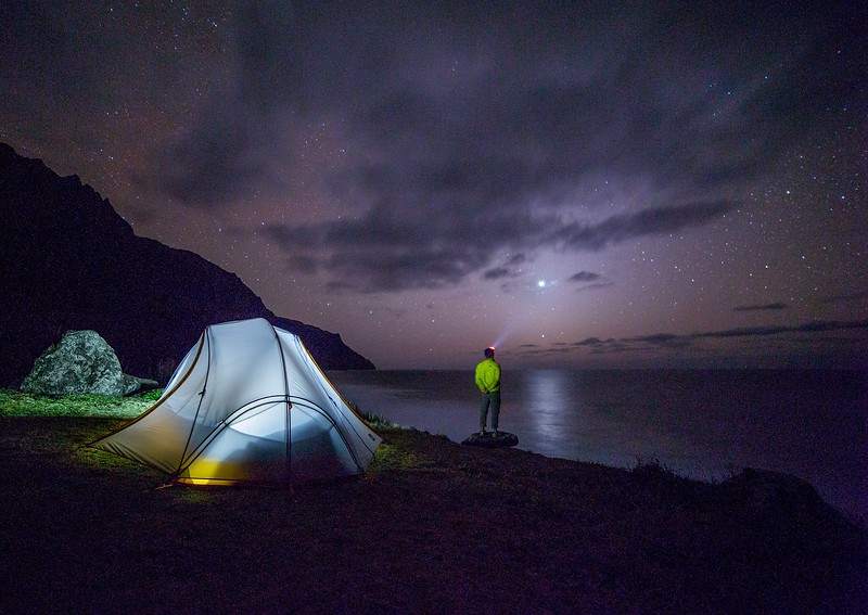 lampe frontale randonnée bivouac